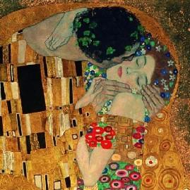 Il bacio, G. Klimt, particolare