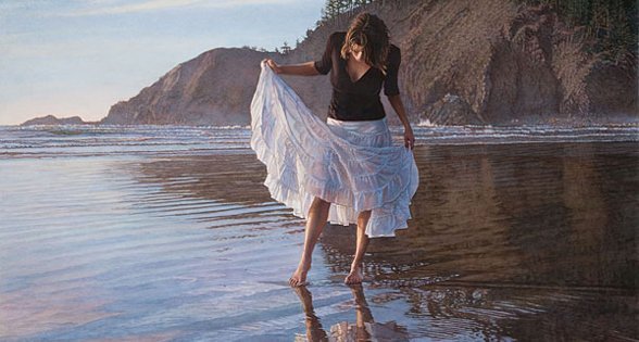 Reflecting on indian beach - Steve Hanks, particolare
