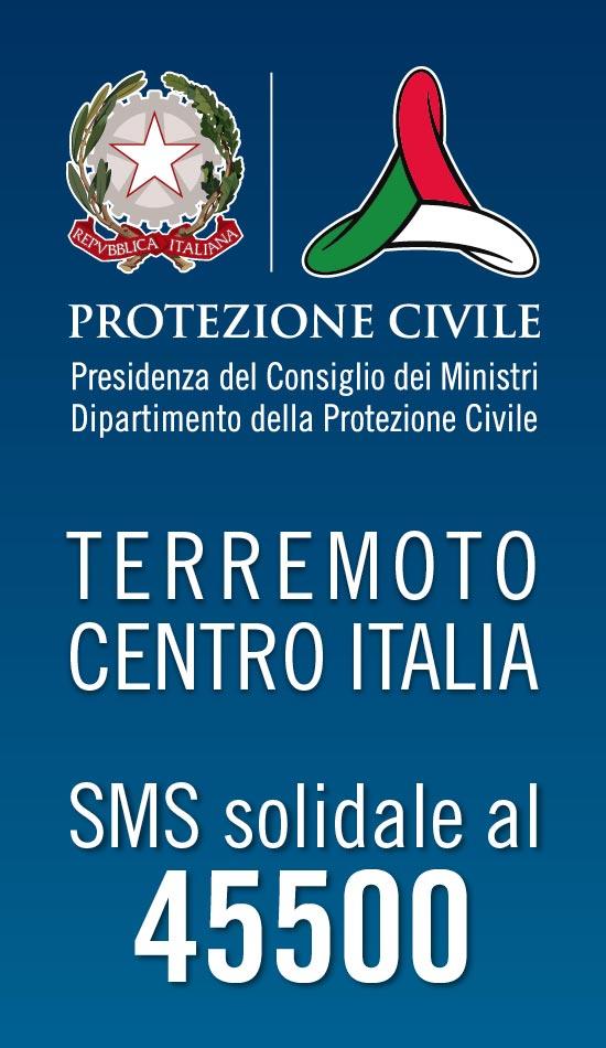 Sms solidale per terremoto Centro Italia