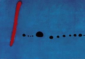 MIrò, Blu II, 1961, Parigi, Centre Georges Pompidou