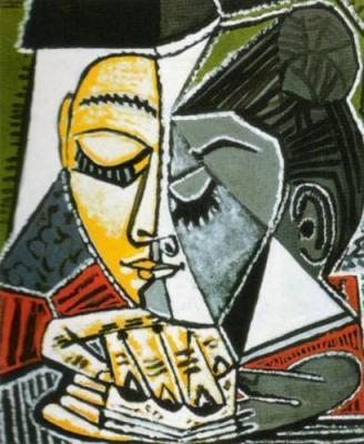 P. Picasso, Tete d'une femme lisant