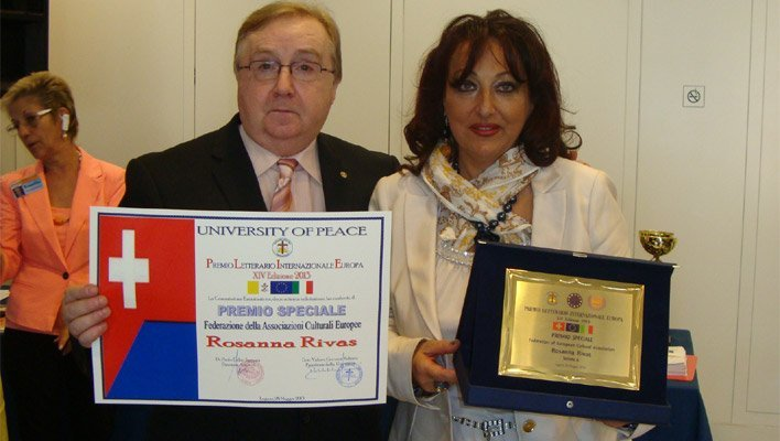 Rosanna Rivas riceve il Premio Letterario Internazionale Europa