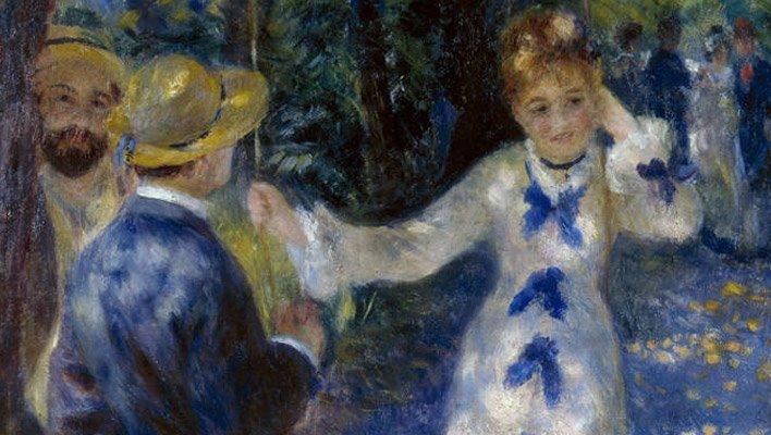 Pierre Auguste Renoir - L'altalena, particolare
