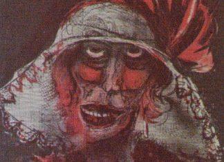 Autoritratto di Otto Dix, particolare