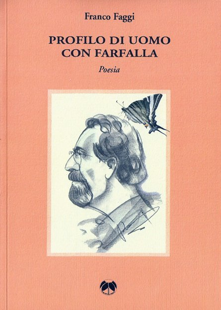 Profilo di uomo con farfalla di Franco Faggi