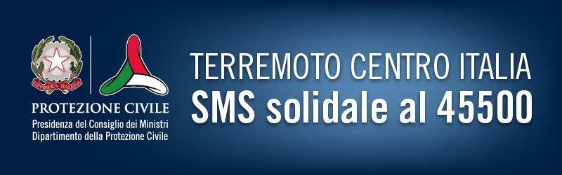 Sms solidale terremoto Centro Italia