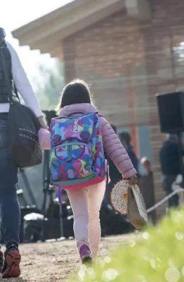 Amatrice, primo giorno di scuola
