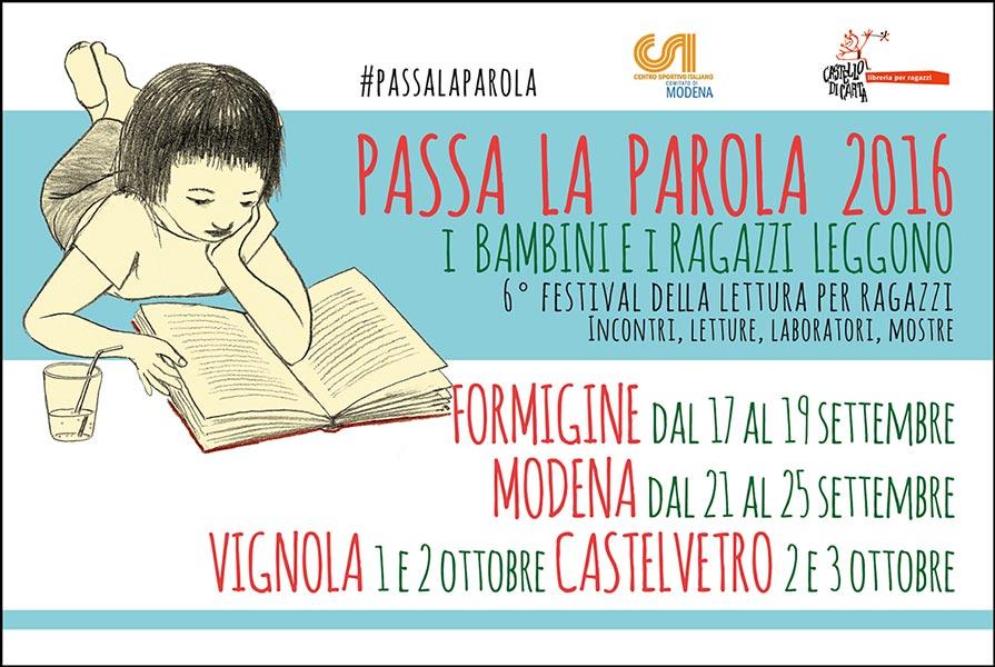 Passa la Parola, il Festival della letteratura per bambini e ragazzi