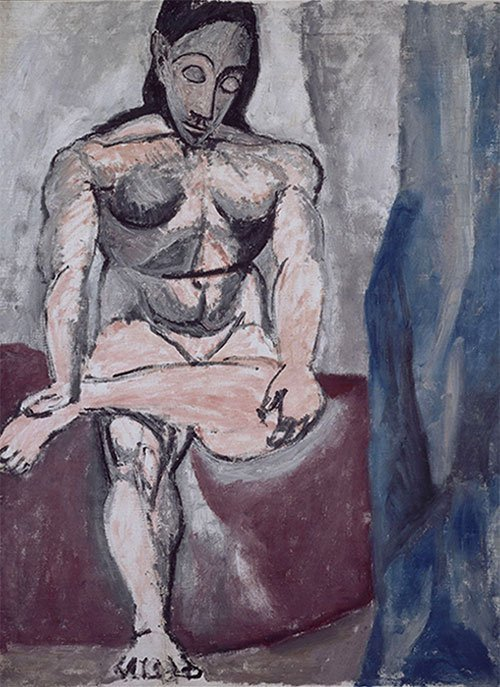 Pablo Picasso, Nu assis