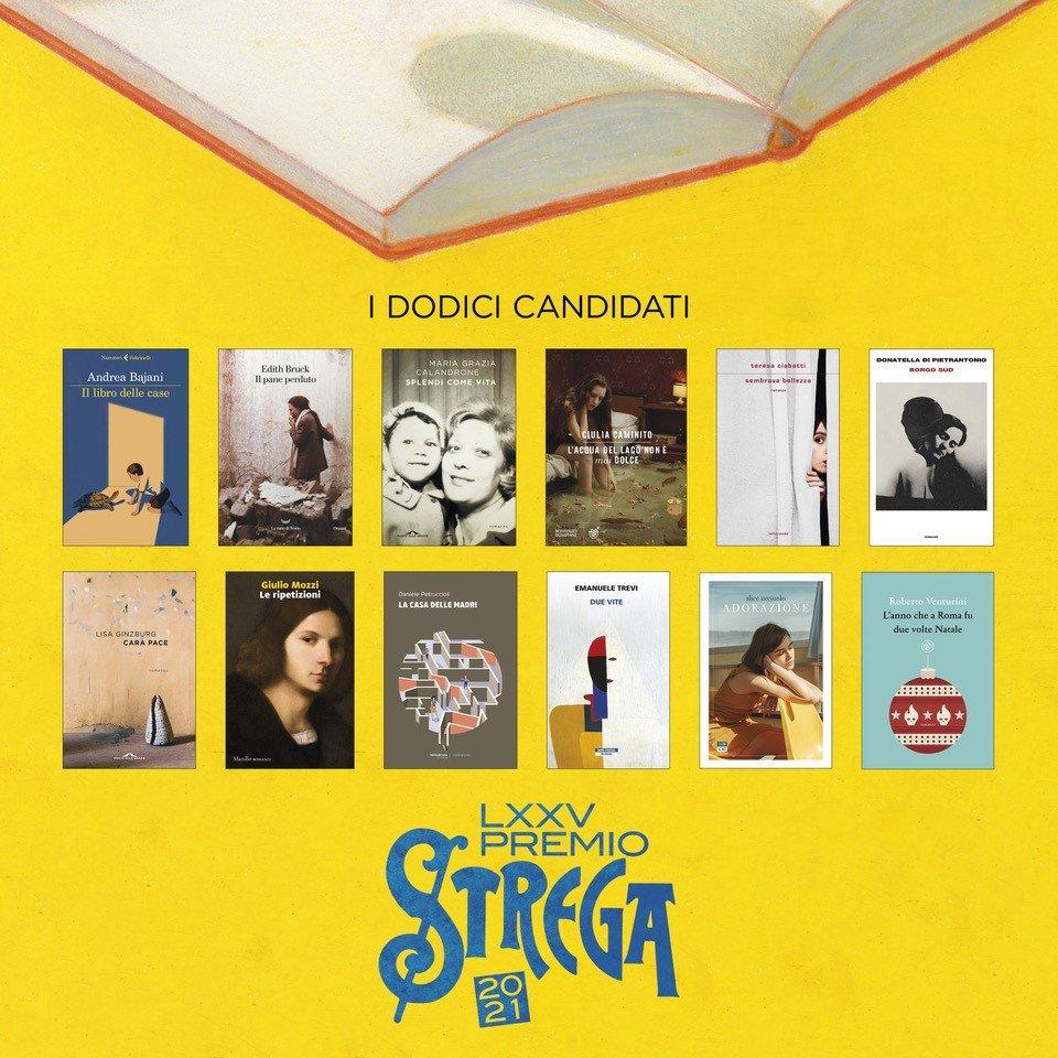 Premio Strega 2021, i dodici libri candidati alla LXXV edizione